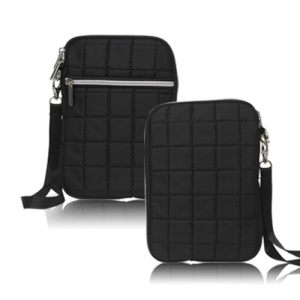 Soft Grid Zipper Carrying Bag Case for Samsung P6800 P6200 For Asus Google Nexus 7 - Black