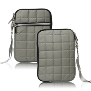 7.8 inch Soft Grid Zipper Carrying Bag Case for Samsung P6800 P6200 Asus Google Nexus 7- Grey