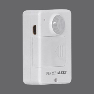 Infared Sensor Alarm Motion Detection GSM Alert Monitor Remote Control - White