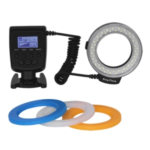 RF-550D 48PCS Marco Circular Ring LED Flash Light for Canon Nikon Pentax Panasonic