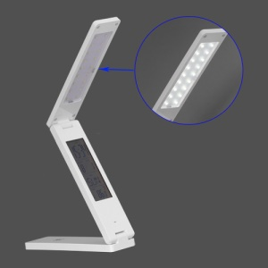 Folding Touch LED Lamp Light with Calendar Thermometer Alarm Clock (18 SMD Leds)