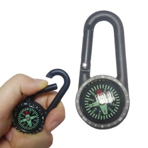 Rugged Carabiner Key Compass Clip Hiking Outdoor Travel