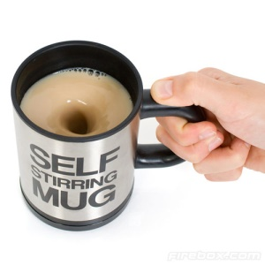Self Stirring Stainless Steel Coffee Tea Mug Cup Coffeemaker