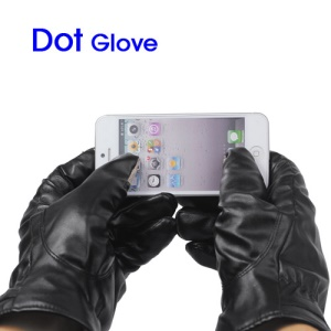 Capacitive Touch Screen PU Leather Gloves for iPhone 5 4S The New iPad Samsung Galaxy S3 i9300 etc