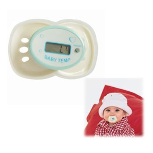 White Adorable Baby Nipple Thermometer with LCD Display