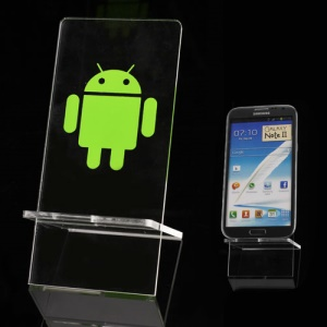 Slim Android Robot Display Stand Holder Bracket for iPhone/ Mobile Phone/ MP4/ MP3 and etc