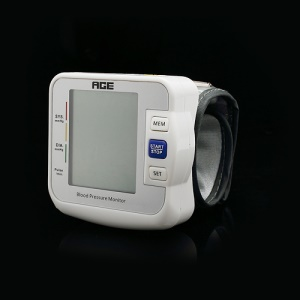Digital LCD Wrist Blood Pressure Pulse Monitor Heart Beat Meter