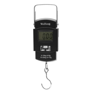50kg/10g Portable Shopping Fishing Luggage Electronic Hanging Scale with Thermometer
