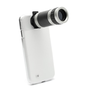 8X Zoom Mobile Phone Telescope Camera Lens w/ Crystal Case for Samsung Galaxy S4 S IV i9500