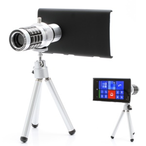 12X Zoom Aluminum Telescope Camera Lens + Tripod + Hard Plastic Cover for Nokia Lumia 920