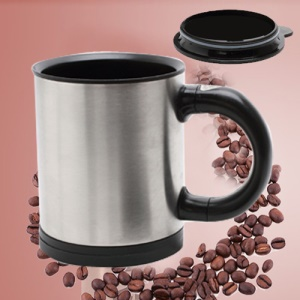 New Household Automatic Stainless Coffee Mixing Cup Blender Stirring Mug