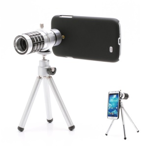 12x Zoom Telescope Camera Lens + Tripod + Hard Plastic Case for Samsung Galaxy S IV S4 i9500 i9505