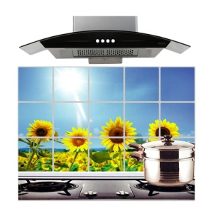 Sunflower Kitchen Sheet Water Oil Hot Proof Fucntion, Size: 750 x 450cm