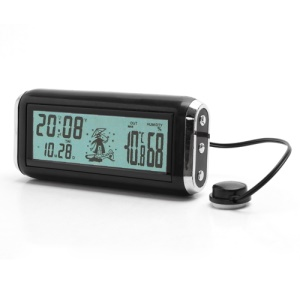 F80 Digital LCD Backlight Multifunction Clock Data Alarm Humidity In / Out Car Thermometer