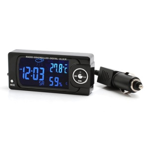 F17 Digital Backlight Clock Hygrometer Calendar Weather Thermometer w/ Car Power Lead