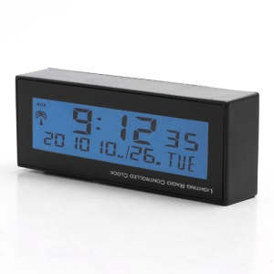 PZ-486 Solar Radio Controlled Car Date Alarm Clock with Backlight