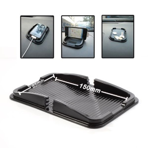 Multi-Function Silicone Non-Slip Mat Dashboard Mat Pad Cellphone Holder, Inner Size: 150mm x 85mm