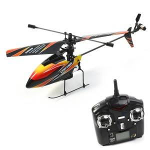 WLtoys V911 4-Channel 2.4GHz Single Propeller Remote Control Helicopter - Orange / Black