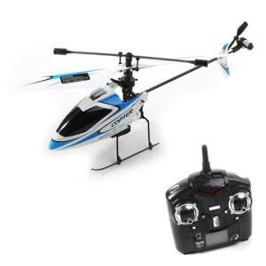 WLtoys V911 4-Channel 2.4GHz Single Propeller Helicopter with Remote Control - Black / Blue