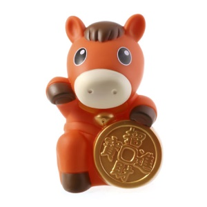Orange Realfun Cute Horse Shaped PC Money Box Penny Bank