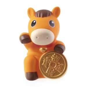 Yellow Realfun Cute Horse Shaped PC Money Box Penny Bank