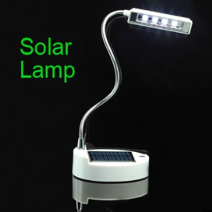 Adjustable Solar Desk Lamp with 4 High Brightness LED