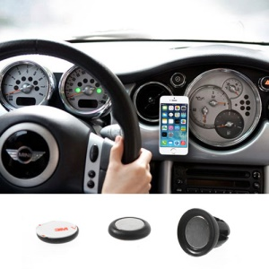 Black Udilis Universal Magnet Sticker Car Air Vent Phone Mount Holder for iPhone 5s 5c Samsung Galaxy S5 Nokia XL LG Sony