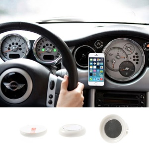 White Udilis Universal Magnet Sticker Car Air Vent Phone Mount Holder for iPhone 5s 5c Samsung Galaxy S5 Nokia XL LG Sony