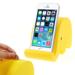 Realfun Elephant Shaped Holder & Money Bank for iPhone iPad Smartphones Tablets etc - Yellow
