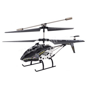 Black Model King 33011 3.5-Channel Alloy Infrared Remote Control Helicopter with GYRO