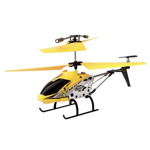 Yellow Model King 33011 3.5-Channel Alloy Infrared Remote Control Helicopter with GYRO