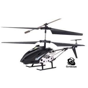 Black Model King 33008 3.5-Channel LED Light GYRO Infrared RC Helicopter