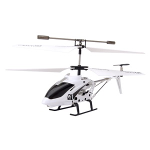 White Model King 33008 3.5-Channel LED Light GYRO Infrared RC Helicopter