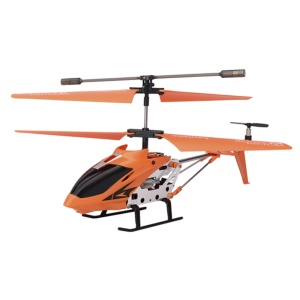 Orange Model King 33008 3.5-Channel LED Light GYRO Infrared RC Helicopter