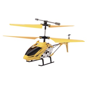 Yellow Model King 33008 3.5-Channel LED Light GYRO Infrared Remote Control Helicopter