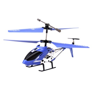 Blue Model King 33008 3.5-Channel LED Light GYRO Infrared Remote Control Helicopter