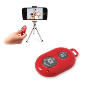 Red Ashutb Wireless Bluetooth Camera Remote Shutter for iOS iPhone iPad Android Samsung HTC Sony etc