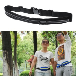 Double Zipped Pouch Travel Waist Belt for Money Security - Black