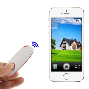 Wireless Bluetooth Remote Controller Selfie Shooter for iPhone iPad Android Smartphones - Red