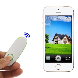 Wireless Bluetooth Remote Controller Selfie Shooter for iPhone iPad Android Smartphones - Green