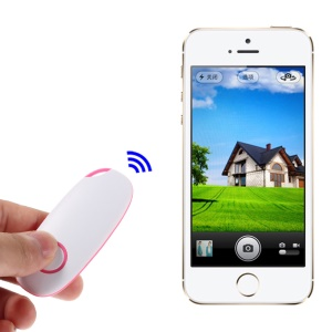 Wireless Bluetooth Remote Controller Selfie Shooter for iPhone iPad Android Smartphones - Blue