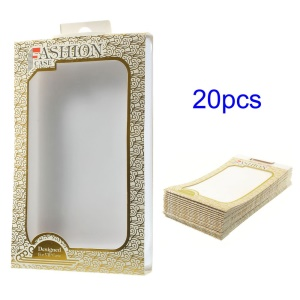 Gold 20PCS/Lot Auspicious Clouds Paper Packing Box with Inner Plastic Cover for LG G3 D850 LS990 Case