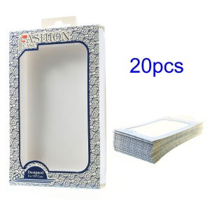 Blue 20PCS/Lot Auspicious Clouds Paper Packing Box with Inner Plastic Cover for LG G3 D850 LS990 Case