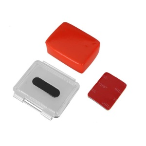 Floaty Sponge with Sticker + Housing Backdoor + Gasket for Gopro Hero 3 2 1;Red