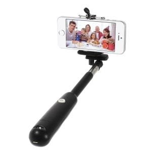 Black Bluetooth Extendable Handheld Monopod Self-timer for Digital Camera iOS iPhone Android Smartphone Samsung