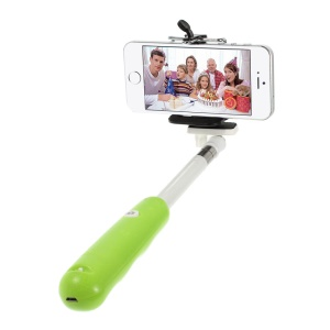 Green Bluetooth Extendable Handheld Monopod Self-timer for Digital Camera iOS iPhone Android Smartphone Samsung