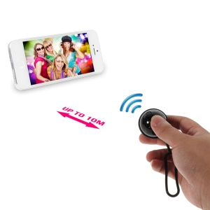 Black iPega Mini Ball Bluetooth Remote Control Self-Timer Shutter for iOS iPhone iPad Android Smartphone Samsung HTC
