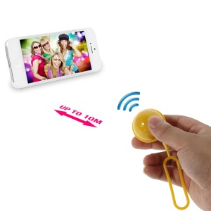 Yellow iPega Mini Ball Bluetooth Remote Control Self-Timer Shutter for iOS iPhone iPad Android Smartphone Samsung HTC