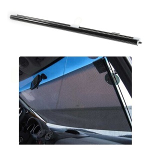 Black Mesh Roll-up Back Window Sun Shield Curtain with Suction Cups Attachment, Size: 40 x 125cm