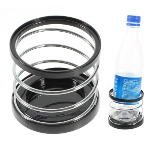 Black Car Metal Steel Spring Can Drinks Holder, Diameter: 6.5cm